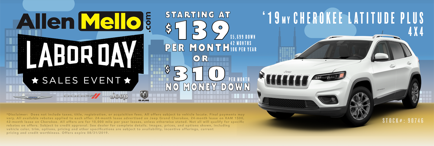 No Money Down Lease Deals >> Jeep Cherokee Lease Deals Nh
